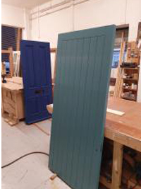 Solid Timber Site Door with Frame 1