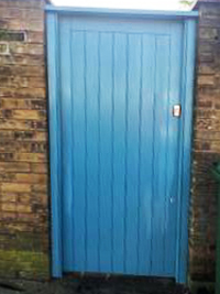 Solid Timber Site Door with Frame 2